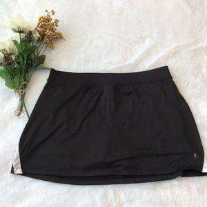 Skirt Skort Attached Shorts L 12 14 Dri More Black